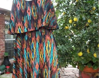 SALE!! Southwestern Colorful Boho High Low Dress