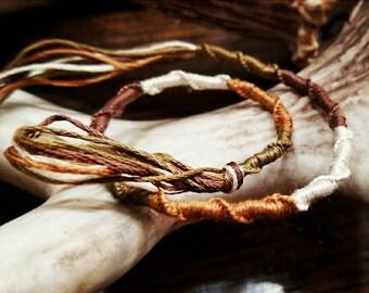 Twisted natural fiber bracelet, anklet, necklace