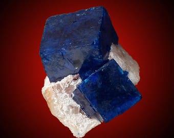 Boleite on Cerussite; Amelia Mine, Santa Rosalía, Baja California Sur, Mexico  --- fine and rare minerals