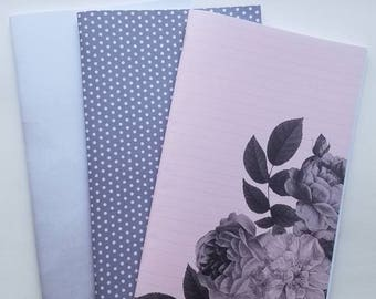 Grey Rose Traveler's Notebook Insert Set