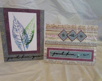 Just For You Greeting Card, Set of 2