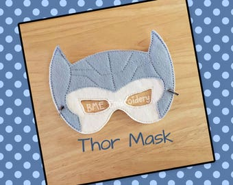 Thor Inspired Felt Mask- Child's Dress Up and Imaginary Play- Birthday Party Favor-Photo Shoot-Pretend Play-Super Hero Theme Party