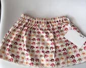 girls clothing handmade kids clothing girls skirt elephants age 3