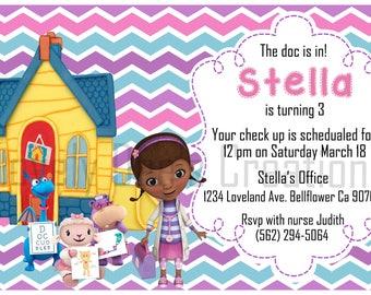 Doc Mcstuffins Birthday Invitations, Doc Mctuffins Invite