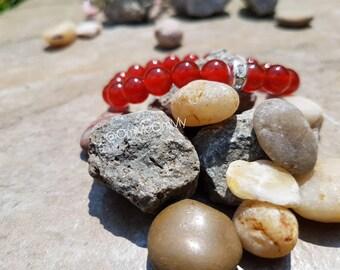 Carnelian Crystal Gemstone Bracelet