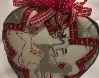 Reindeer with reindeer charm ornament