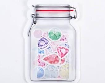 Cute Diamond Stickers, Kawaii Sticker Flakes, Scrapbooking, Decoration, Planner Sticker