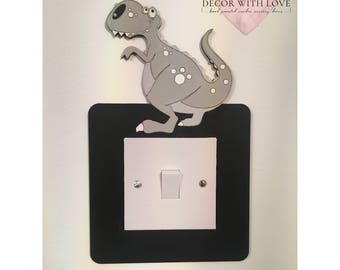 Dinosaur Light Switch Surround Frame, Boys Room Dino Frame