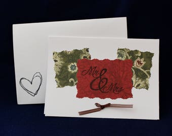Mr. and Mrs. Thank You Cards Set with Bow, Pack of 10