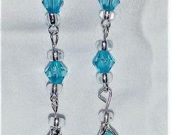 Long Beaded Calla Lily Earrings