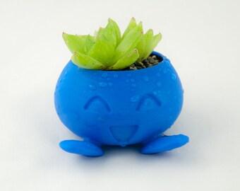 Oddish Planter   pokemon planter, succulent planter, cactus planter, 3d printed pokemon gift, oddish pot