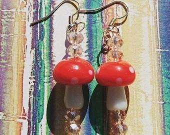 Cute toadstool earrings