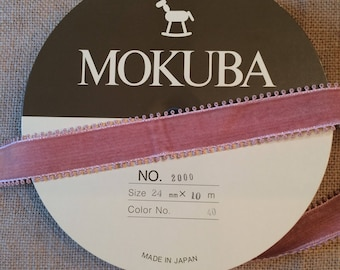 Vintage Rose Velvet Ribbon from Mokuba Japan by the Yard
