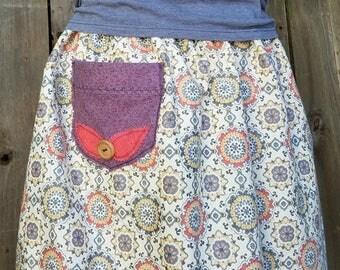 Refashioned Upcycled Plus-Size Boho skirt 2x-5x