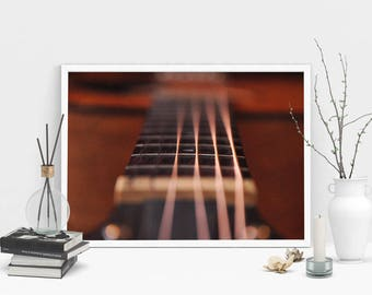 Guitar Strings Photography Print, Wall Art, Color Print, Printable Art, Instant Digital Download Print