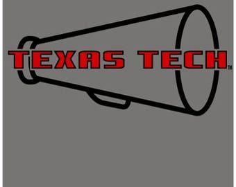 Texas Tech Cheer/Megaphone Shirt (adult)