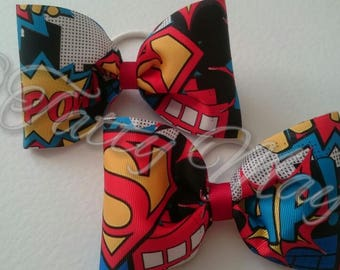 Superman Hair Bows
