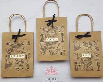Harry Potter Marauders Map Party Gift Favour Kraft Paper Bags - PERSONALISED -