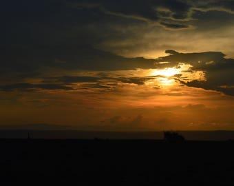 Uganda Safari Sunset Landscape