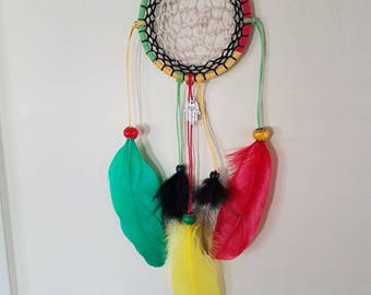 Red, yellow, green dream catcher