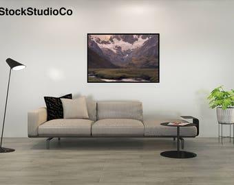 Mockup Frame Living Room Artwork Contemporary