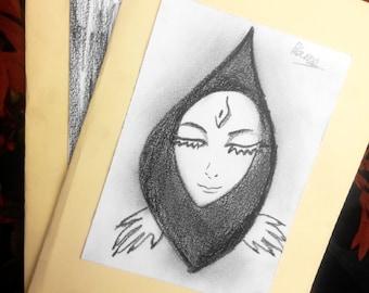 beatiful girl card DIY
