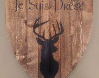 Rustic Outlander Wood Sign - Je Suis Prest