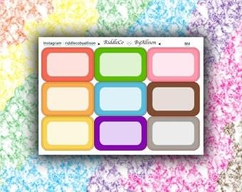 Rainbow Colour Half Boxes
