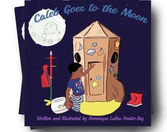 PRE- ORDER Caleb Goes to the Moon Children's Book - Children's Literature - Children's Books