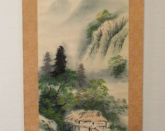 Japanese Hanging Scroll: Water Wheel  (Ref S1006)