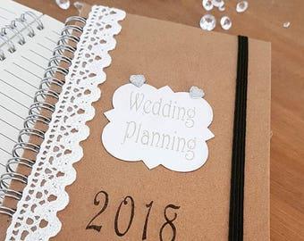 Personalised NotePad Wedding planner, Birthday, organising.