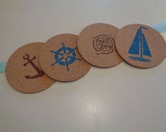 Nautical Cork Coasters