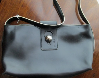 Genuine Leather Lady's Purse, Black, Made in Italy by FURLA  FREE SHIPPING