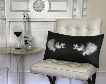 Smoke Puff Lumbar Accent Pillow