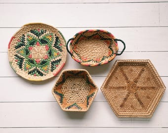 Vintage Coiled Basket Collection