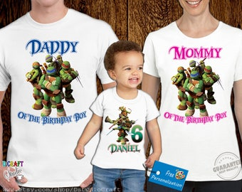Teenage Mutant Ninja Turtles Birthday Shirt, TMNT Custom Shirt, Personalized NINJA TURTLES Shirt, tmnt family shirts, Birthday t-shirt E016