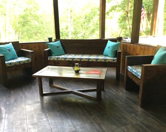 Solid Wood Porch Furniture Set