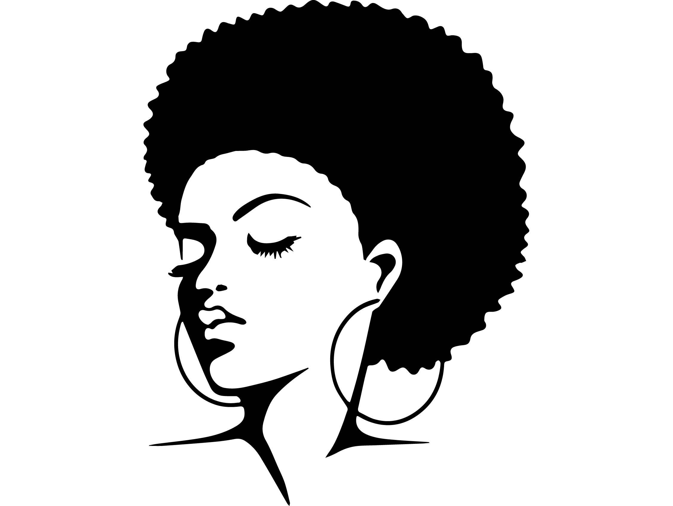 Afro Hair Vector Black Woman11 Afro Hai...