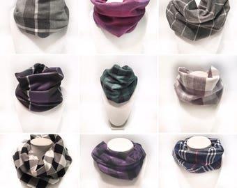 Baby / toddler snap up infinity scarf bib