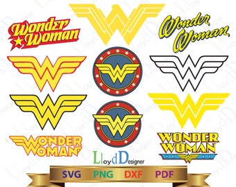 Wonder Woman Svg Dxf Eps Png Pdf Super Heroes SVG Superhero Clipart Wonder Woman logo superhero svg Wonder Woman ornament cut file