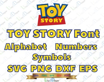 Toy Story Font SVG Toy Story Alphabet SVG Toy Story Letters SVG Toy Story birthday svg png eps dxf cut files decor party Print Cameo Cricut