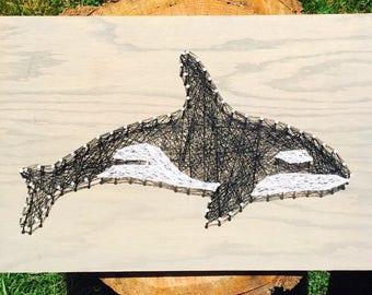 Orca Whale String Art Wall Art