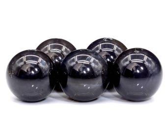 46 / 23 Pcs - 8MM Dark Blue Iolite Beads Grade AAA Genuine Natural Round Gemstone Loose Beads (102057)