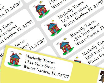 800 Personalized Return Self-adhesive Address Labels -Home Sweet Home
