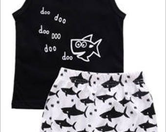 Baby Shark Summer Outfit