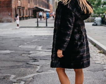 Faux fur coat Night Breeze