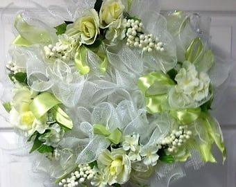 Beautiful Wedding style mesh wreath