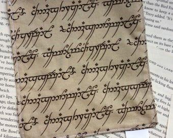 Small Bag - LOTR/Hobbit Cotton Pattern