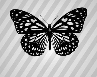 Butterfly Silhouette - Svg Dxf Eps Silhouette Rld Rdworks Pdf Png Ai Files Digital Cut Vector File Svg File Cricut Laser Cut