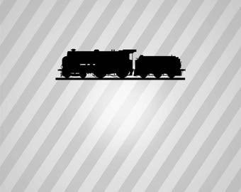 Train Silhouette Locomotive Trains - Svg Dxf Eps Silhouette Rld RDWorks Pdf Png AI Files Digital Cut Vector File Svg File Cricut Laser Cut